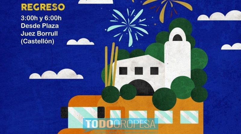 Oropesa refuerza el servicio de autobús para desplazarse a Castellón los sábados de Magdalena