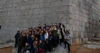 Un total de 50 estudiantes franceses visitan Orpesa para conocer su patrimonio histórico