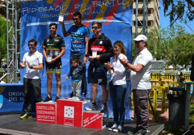 El atleta local Miguel Fuentes finaliza segundo en la categoría Olympic del Triatlón de Oropesa