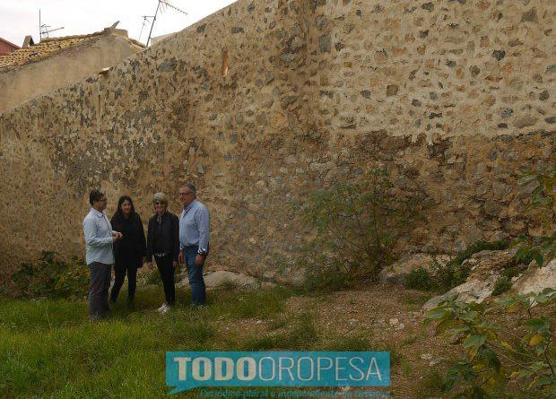 Oropesa restaura un tramo de la bóveda del pasadizo del castillo