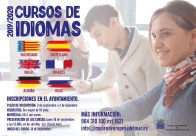 Abierto el plazo para los cursos de idiomas en el Ayuntamiento de Oropesa