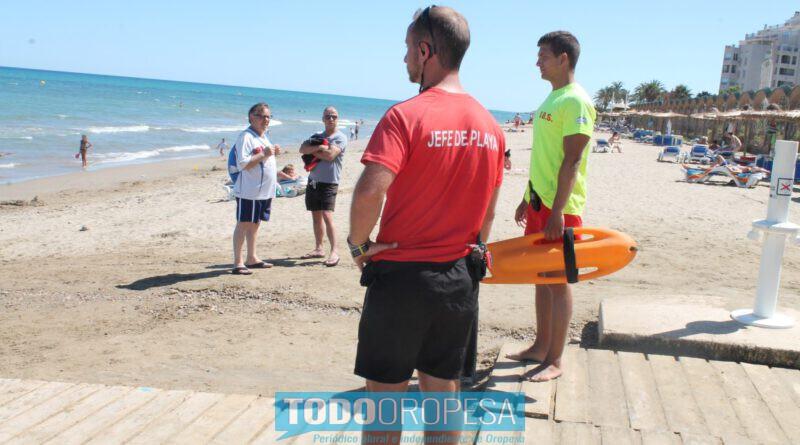 Rescatan a una mujer con síntomas de ahogamiento en Orpesa