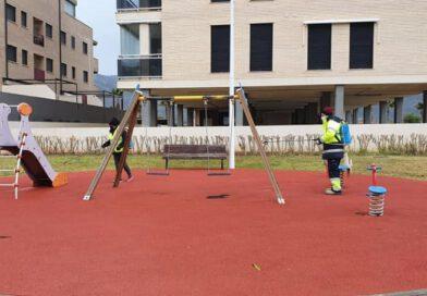 Oropesa continúa con la desinfección de calles y espacios públicos