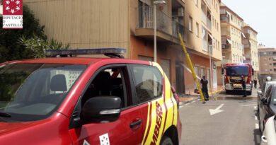 Un hombre herido tras explotar su coche en un garaje de Oropesa